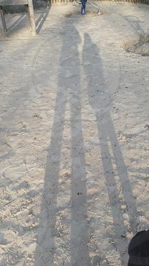 Sand park shadow child sun  photo