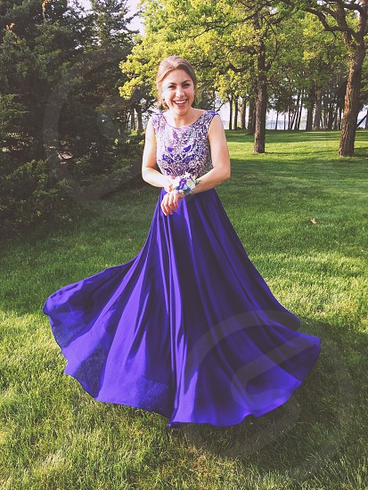 Prom dress girl blue  photo