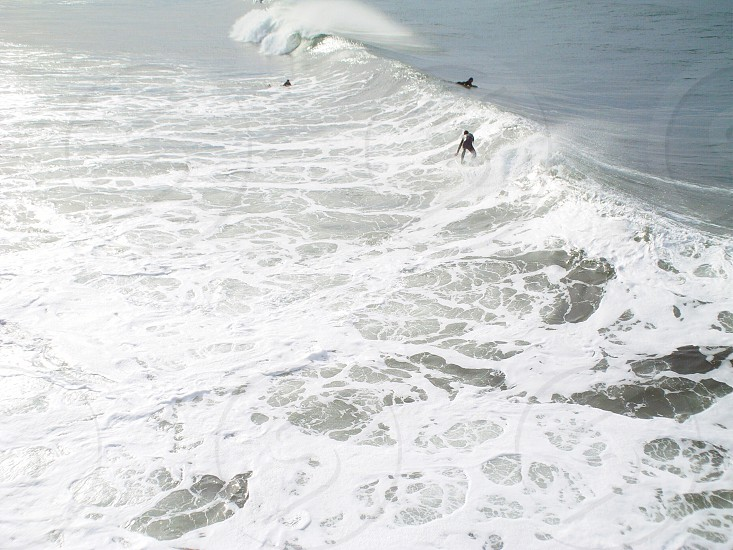 Surf surfing waves water California USA sport fun pacific ocean sea current photo