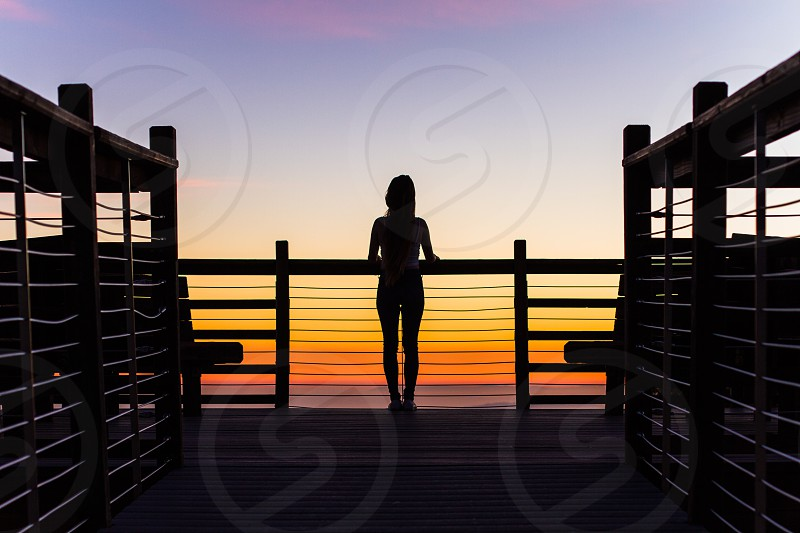 woman silhouette standing photo