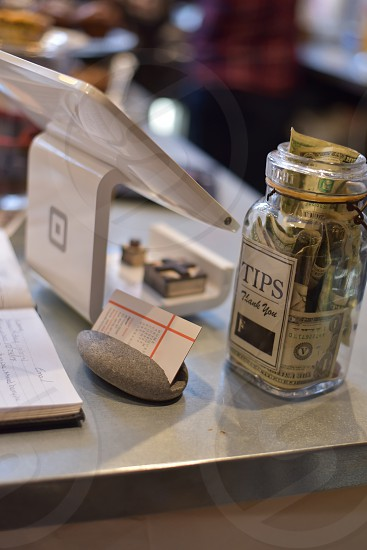 Shopping point of sale Pay & Tips photo