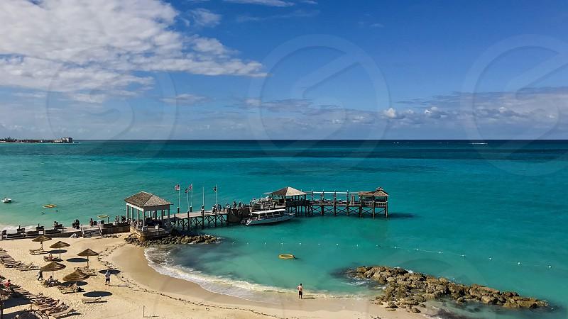 Caribbean Bahamas resort beach water travel view photo