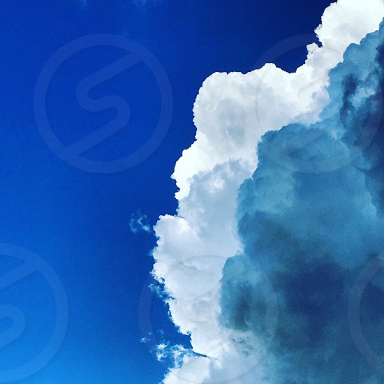 Cloud clouds blue sky storm weather photo