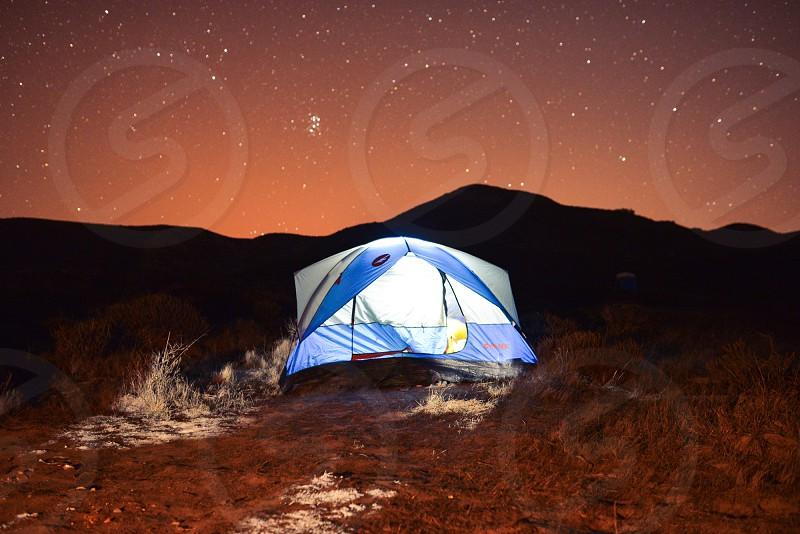 astro night camp tent photo