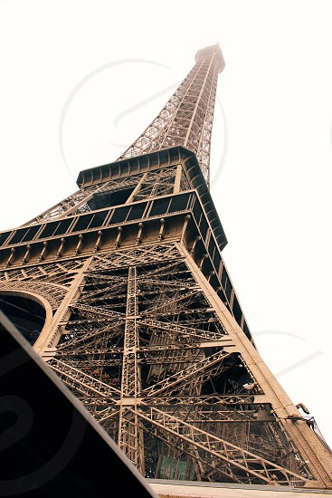 Eiffel tower captured from car roof photo