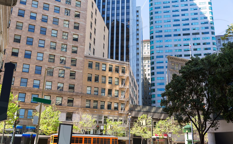 San Francisco Downtown buildings at California USA photo