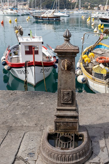 LERICI LIGURIA/ITALY  - APRIL 21 : Water tap in the harbour in Lerici in Liguria Italy on April 21 2019 photo