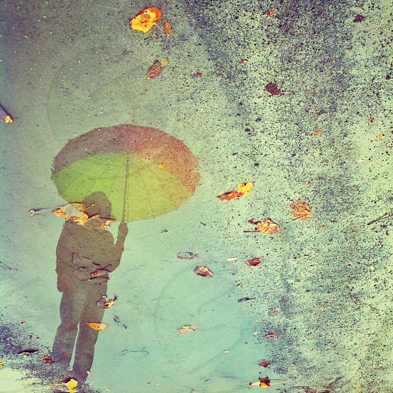 photo of human holding an umbrella photo