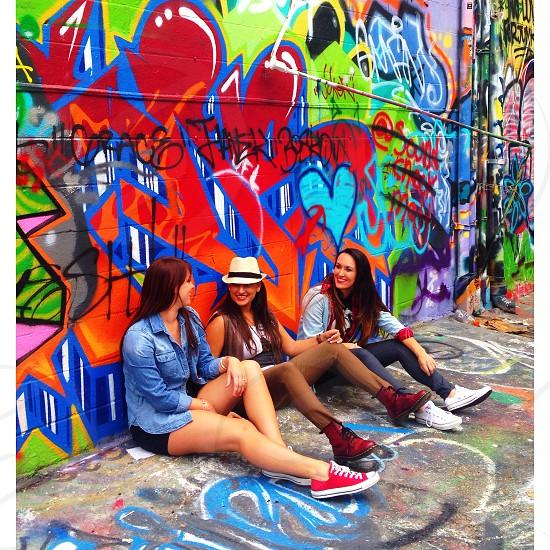 graffiti girls friends  photo