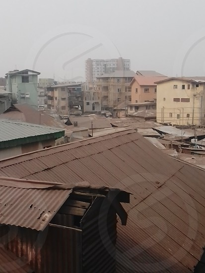 Some views of buildings in lagosNigeria. photo