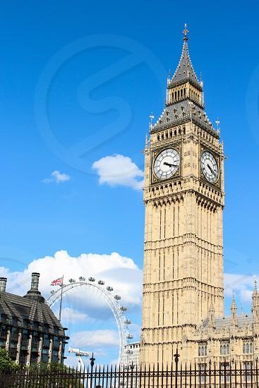 Europe London Big Ben Parliament London Eye photo