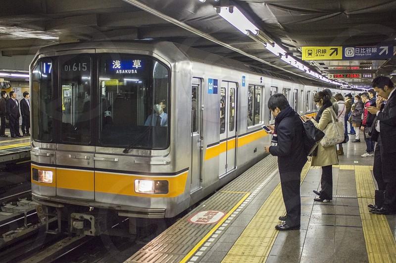 train to Asakusa Tokyo Japan photo