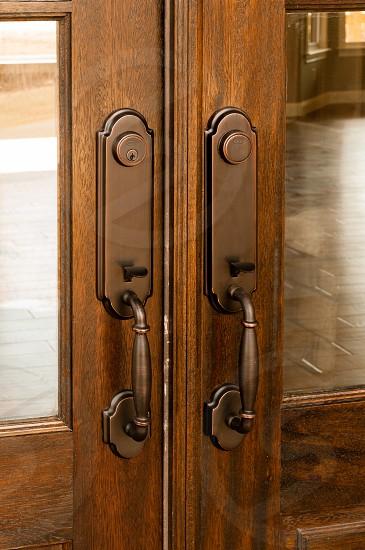 Architectural detail front door handle photo