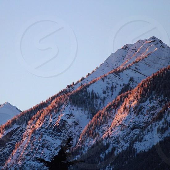 Mountain sunrise Banff morning photo