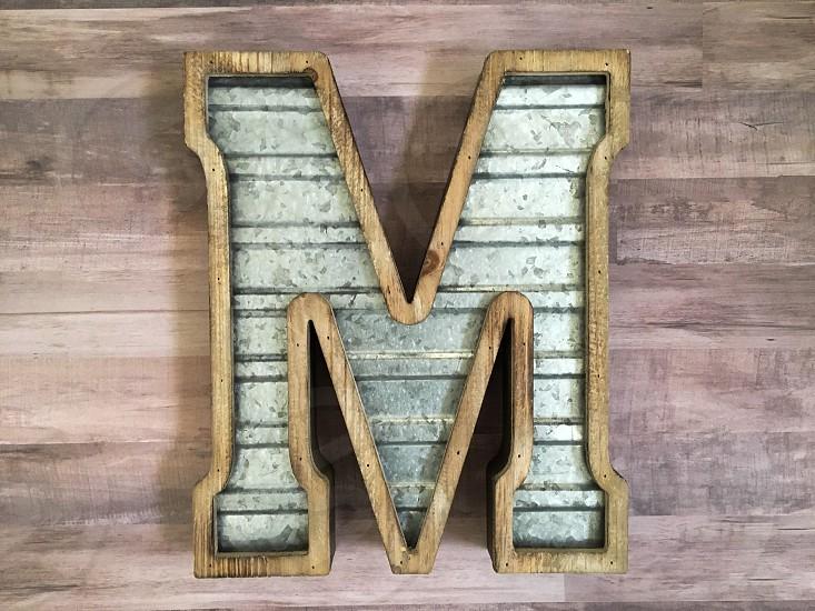 M letter letters photo
