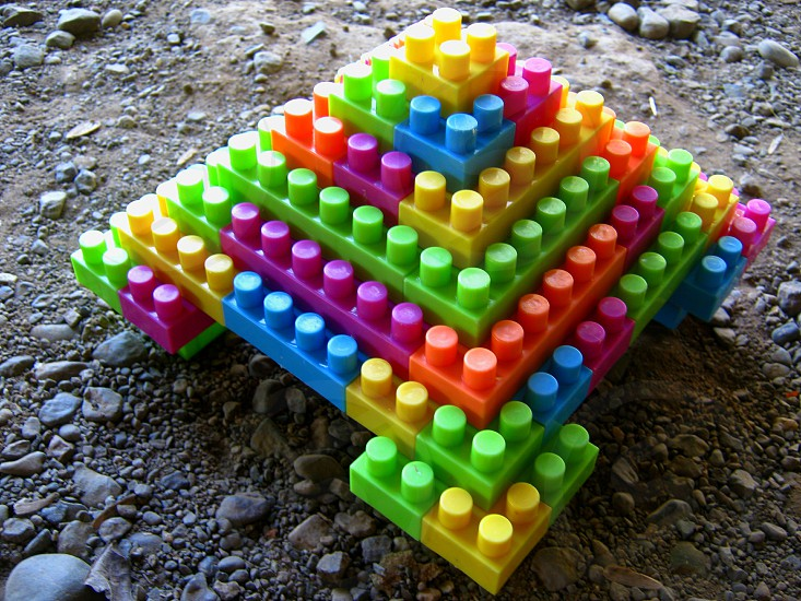 Toy build a pyramid. photo