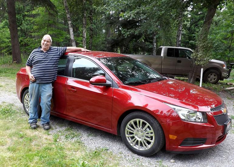 Grandpa and his new car. photo