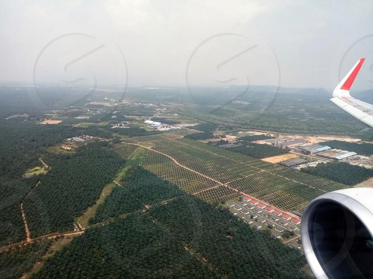 aviation cloud plane wing plane photo