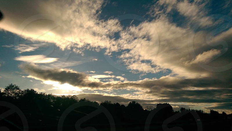 silhouette photo of trees and clouds photography photo