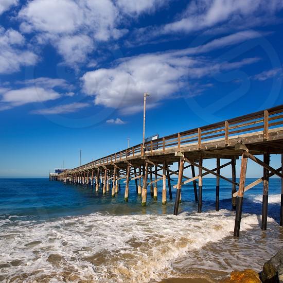 Newport pier beach in California USA surf spot photo