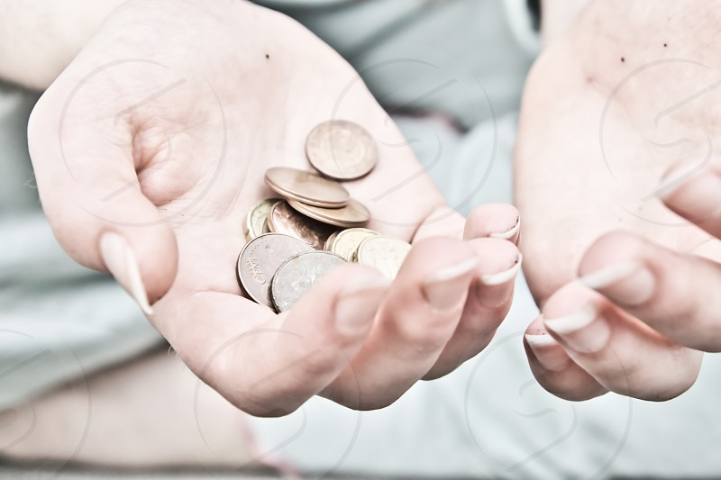 money europ belgium hands holding money poverty photo