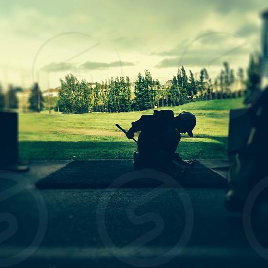 Children. Golf. Brush up. Stay straight. Teagen. photo