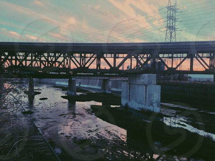 double layer city bridge photo