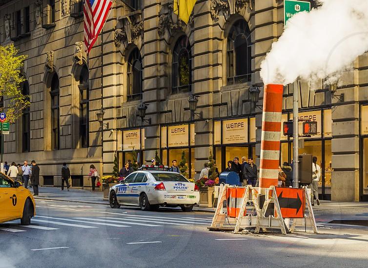urban scene in new york in daytime photo