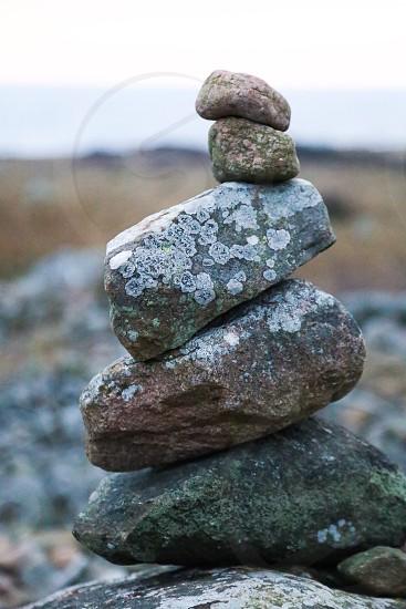 Inspiring meditational reflective  photo