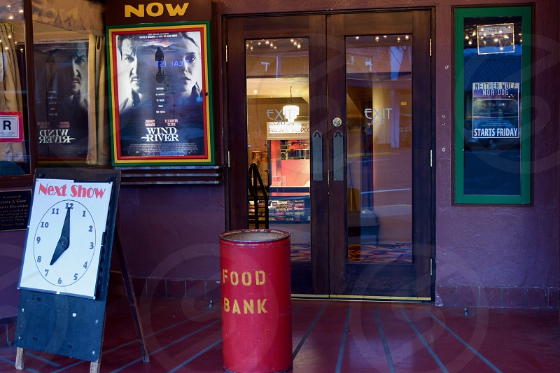 Thursday night at the Palace Theater is Food Bank Night in Silverton Oregon photo
