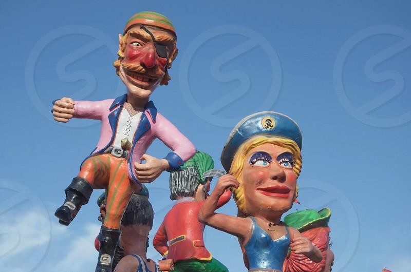 Carnival papier-mache figuresfloatfunfunnyfestcolorscolorful photo