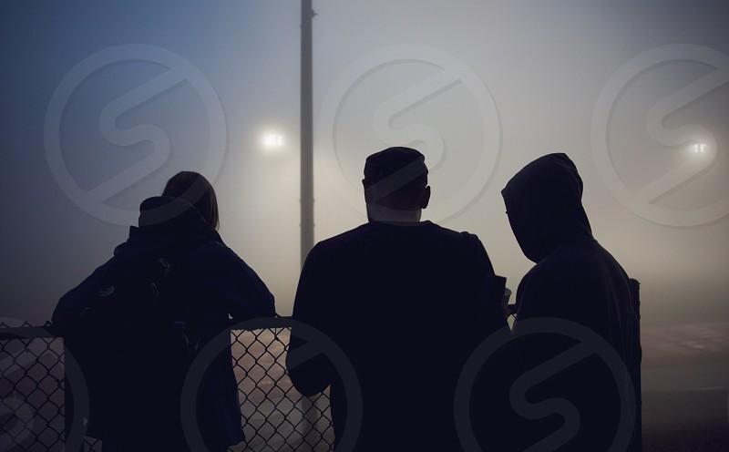 Friends in the fog photo