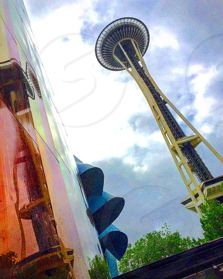 Seattle space needle tourist landscape photo