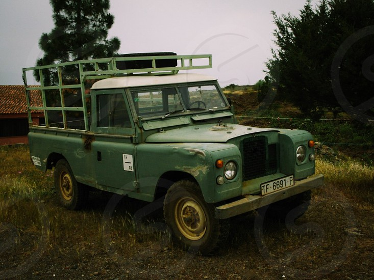 Old jeep from plantation island. photo