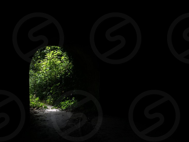 dark cave photo