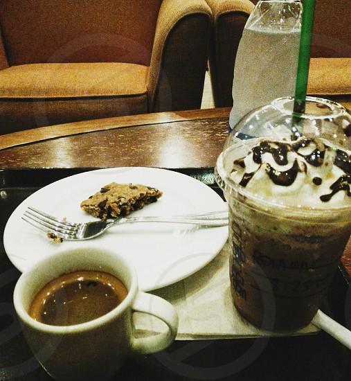 Night life at Starbucks. photo