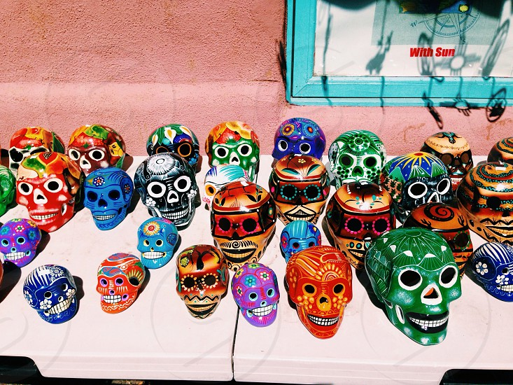 Painted skulls in Santa Fe photo