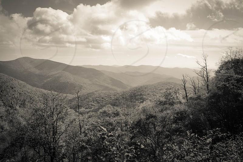 Blue Ridge Mountains near Asheville North Carolina. photo