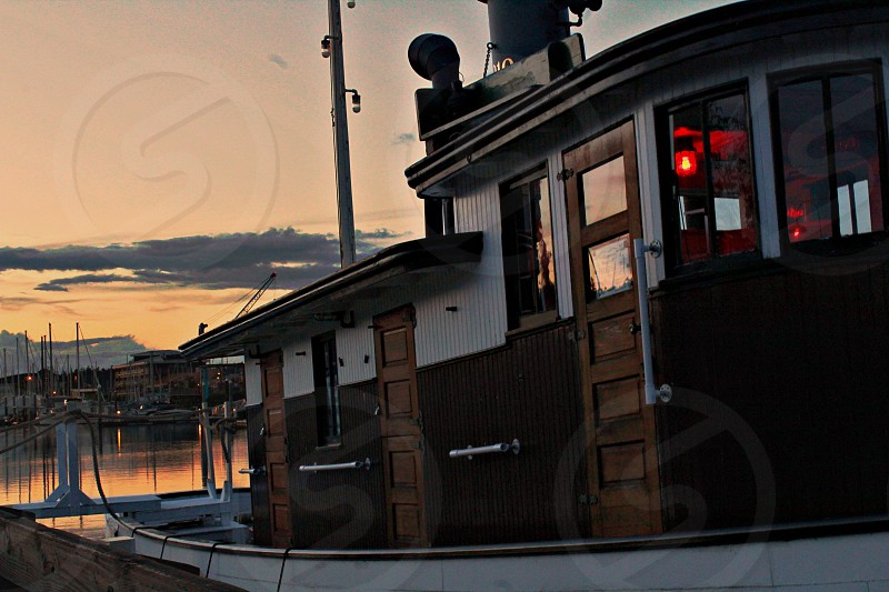 The historic Sand Man boat in downtown Olympia WA photo