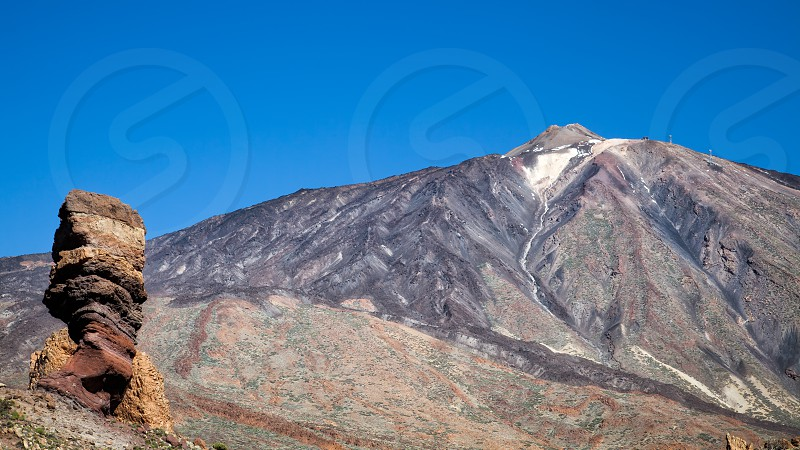 Mount Teide and the rock called the Tree photo