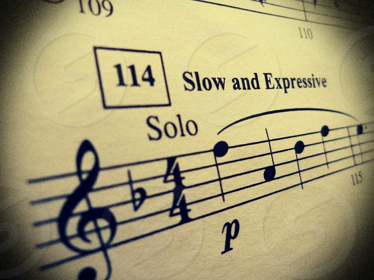 Life is your solo: Take it slow; Make it expressive. photo