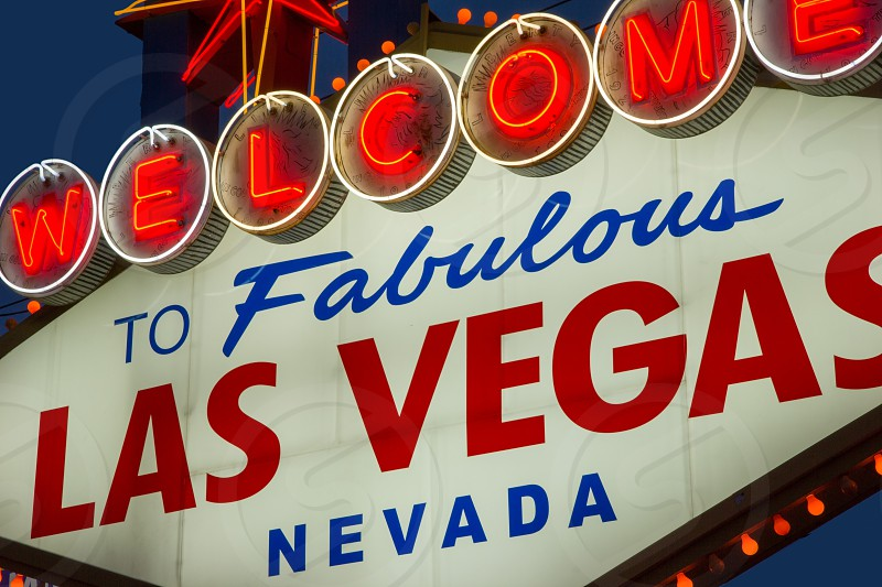 Las Vegas Neon Welcome Sign photo
