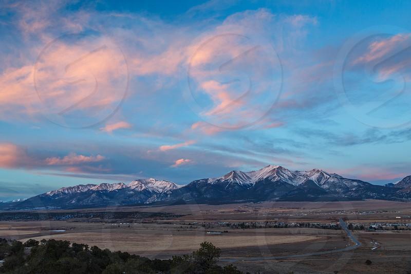 Collegate Peaks over Buena Vista Colorado photo