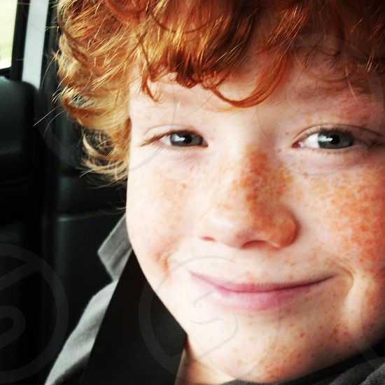 freckles boy red hair gingers youth photo