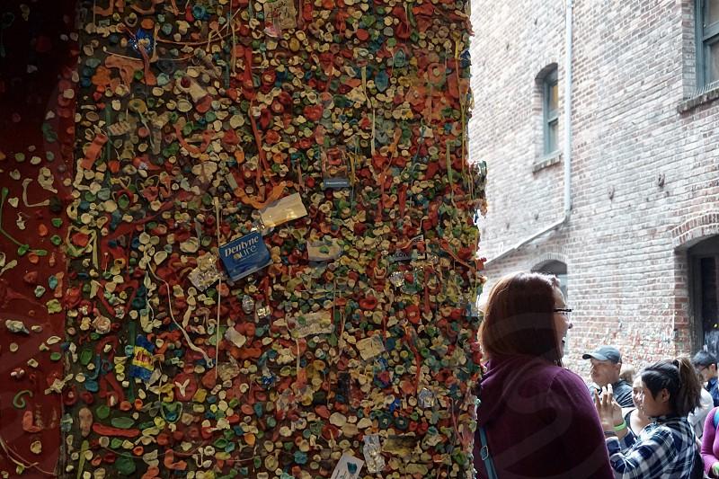 The Gum Wall - people having fun!  photo