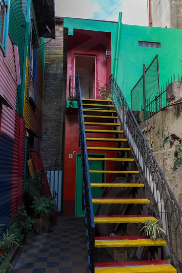colored houses in buenos aires photo