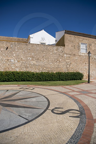 the city wall in the old town of Faro at the east Algarve in the south of Portugal in Europe. photo