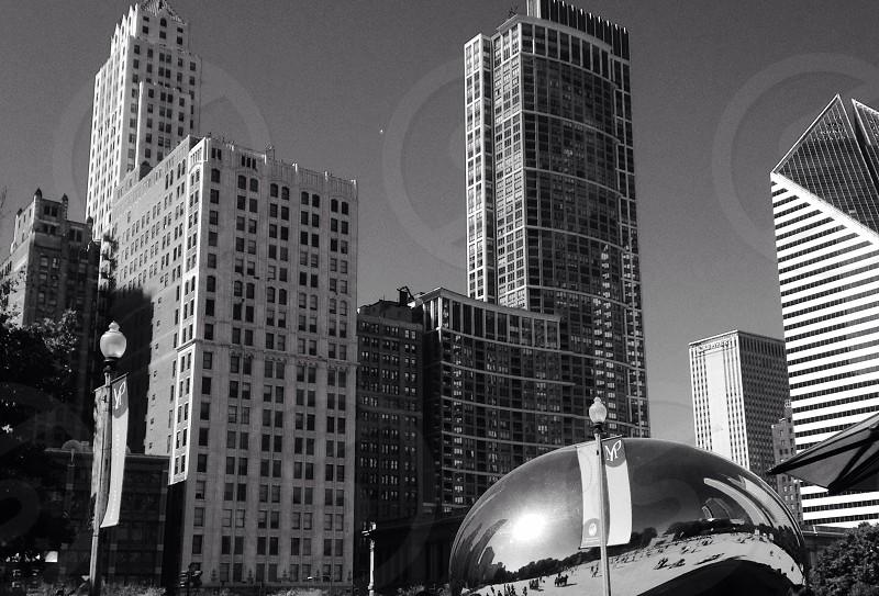 Chicago seen from Millennium Park  photo