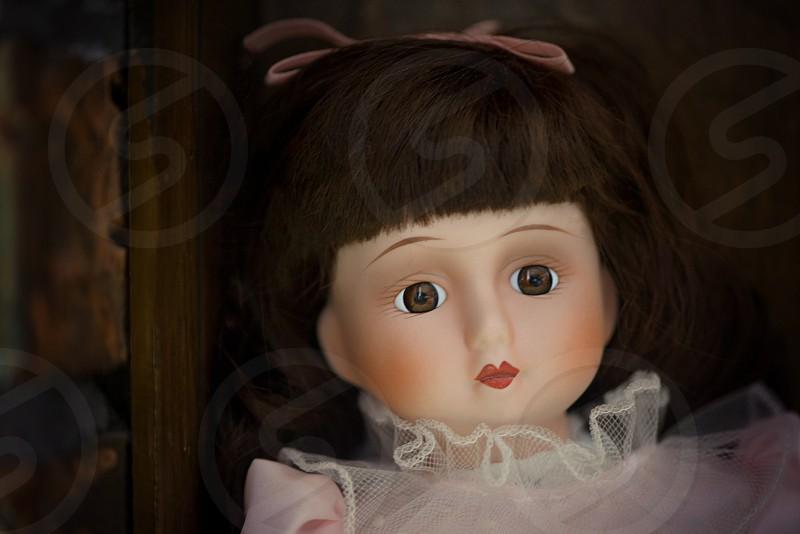 Doll Toy Vintage Brunette Brown photo