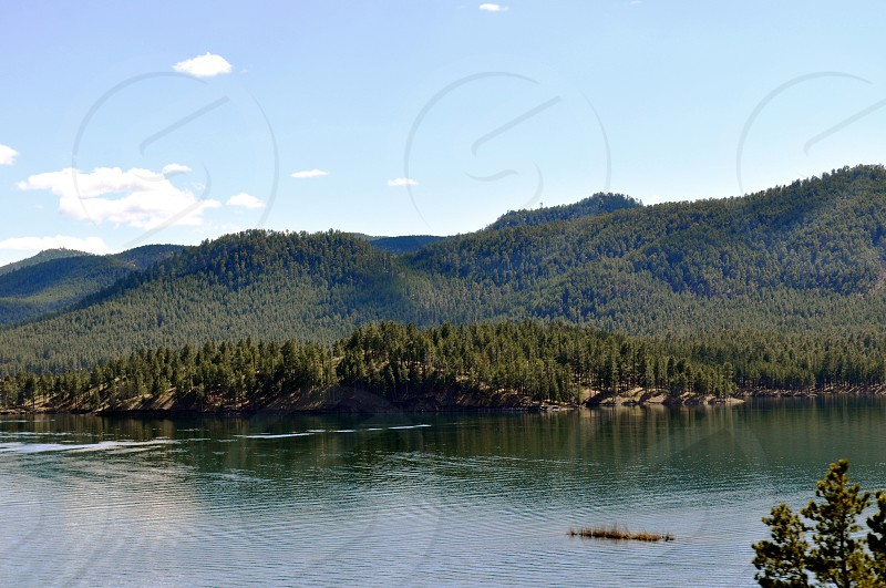 Black Hills and lake photo